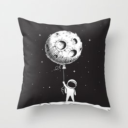 Fly Moon Throw Pillow