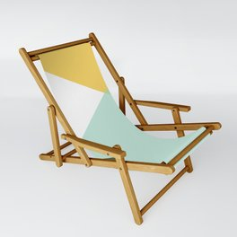 Geometrics - citrus & concrete Sling Chair