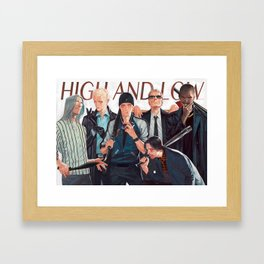 high and low Framed Art Print