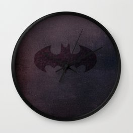 Bat Galaxy Wall Clock