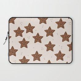 Leopard Star Copper Patern Design Print Laptop Sleeve