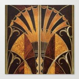 art deco wood Canvas Print
