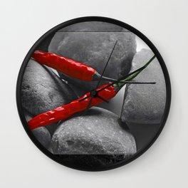 Hot Chilis Stones Wall Clock