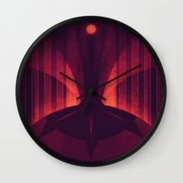 Io - The Sulfur Plumes Wall Clock