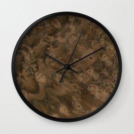 Walnut Burl Wood Wall Clock