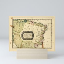 Le Bresil (Map of Brazil circa 1656) Mini Art Print