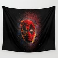 pool Wall Tapestries featuring Dead Pool by Andrew Treherne
