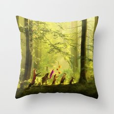 Secret Parade Throw Pillow
