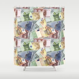 Art of the euro money Shower Curtain