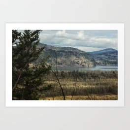 Columbia Gorge View from the Trail Art Print