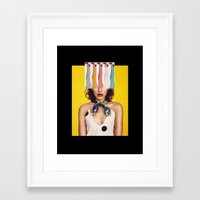 legs Framed Art Prints featuring LEGS by Neon Wonderland