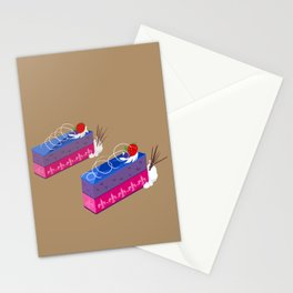 bi-layer mousse cake Stationery Cards