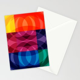 Reflections abstraction art decorative Stationery Cards