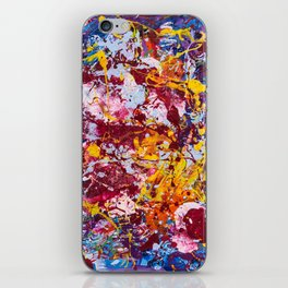 Neural carnival iPhone Skin