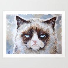 Tard the cat Art Print