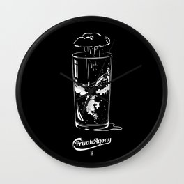 Private Agony Wall Clock