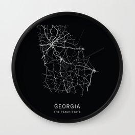 Georgia State Road Map Wall Clock