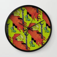 witch Wall Clocks featuring Witch by Iribú