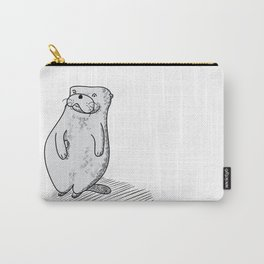 Mr Otter loves his rock. Carry-All Pouch