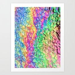Rainbow Oil Slick Spill on Tarmac Pavement Road Art Print