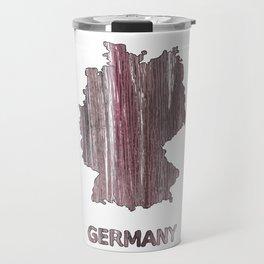 Germany map outline Deep Taupe watercolor Travel Mug