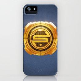 Golden S 3D Emblem iPhone Case