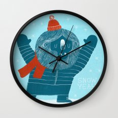 Snow Yeah Wall Clock