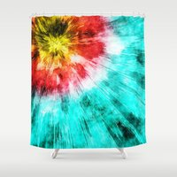 tie dye Shower Curtains featuring Colorful Tie Dye by Phil Perkins