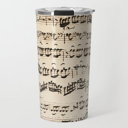 Johann Sebastian Bach (1685 – 1750) original music sheet Travel Mug