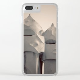 Gaudi's Chimneys Clear iPhone Case