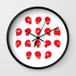 redhead - red on white Wall Clock