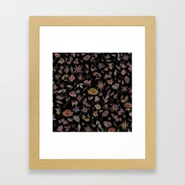 Botanical Study- Dark Colorway Framed Art Print