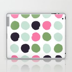 Painted dots minimal colorful pattern polka dots nursery baby decor Laptop & iPad Skin
