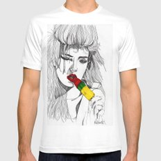 ICE LOLLY GIRL MEDIUM Mens Fitted Tee White