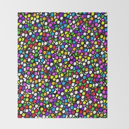 Bubble GUM Colorful Balls Throw Blanket