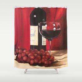 Red Wine, Still Life Shower Curtain