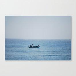 Fishing in the Mediterranean Sea  Canvas Print