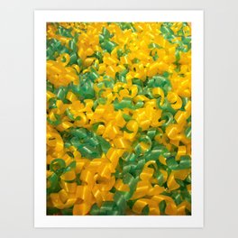 Swedish yellow and green candy Art Print