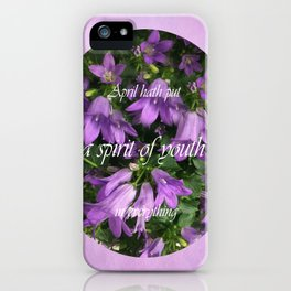 April spirit iPhone Case