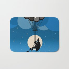Balloon Bat Bath Mat
