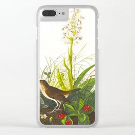 Tawny Thrush Bird Clear iPhone Case