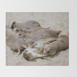 Prairie dog love Throw Blanket