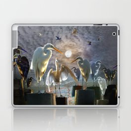 Fantasy Image of Bird Gathering Laptop & iPad Skin