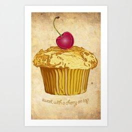 sweet, with a cherry on top Art Print