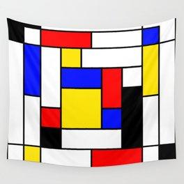 Mondrian Geometric Art 2 Wall Tapestry