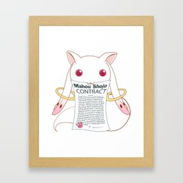 Kyubey's Mahou Shoujo Contract Framed Art Print