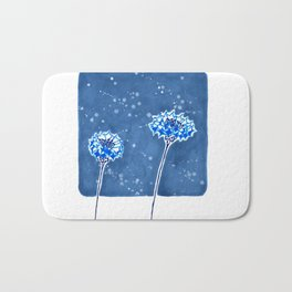Winter's Flowers Bath Mat