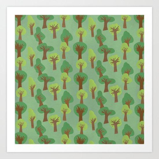 Trees Trees Trees Art Print