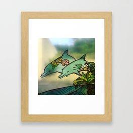 Okinawa Dolphins Framed Art Print