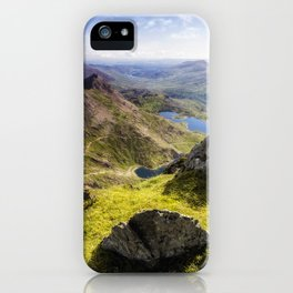 Snowdon Pyg and Miners Track iPhone Case